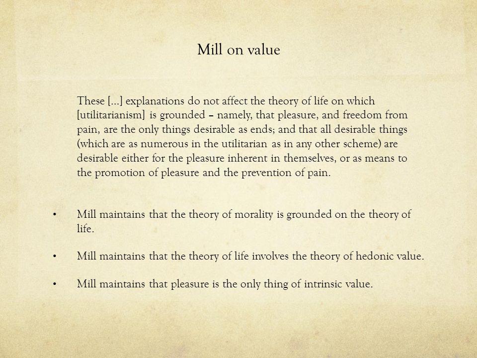 Mill on value