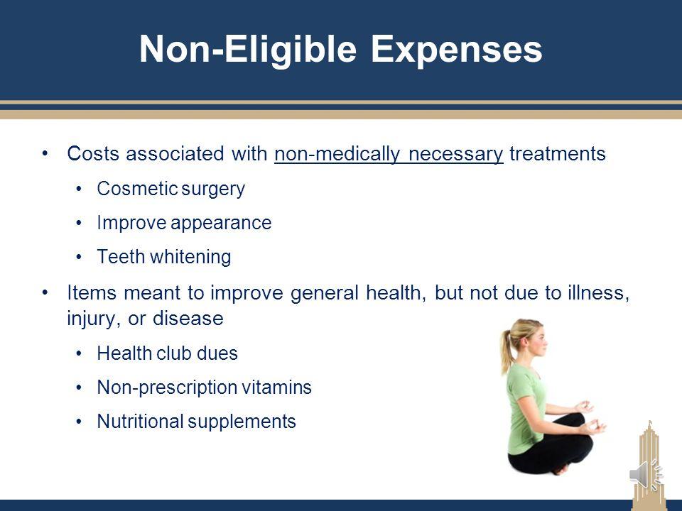 Non-Eligible Expenses