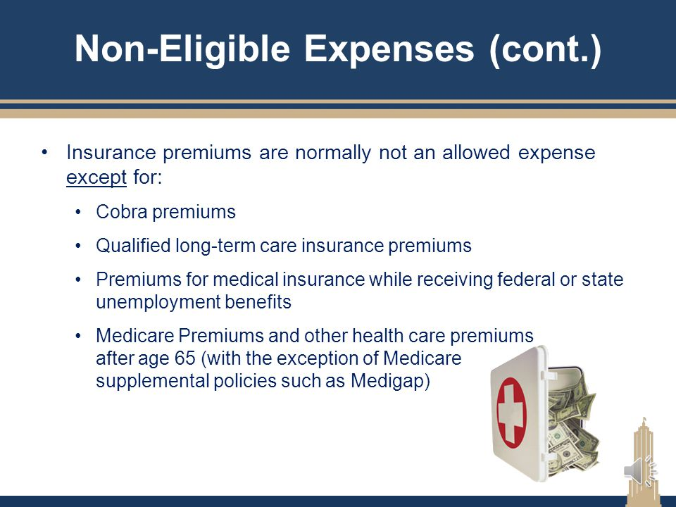 Non-Eligible Expenses (cont.)