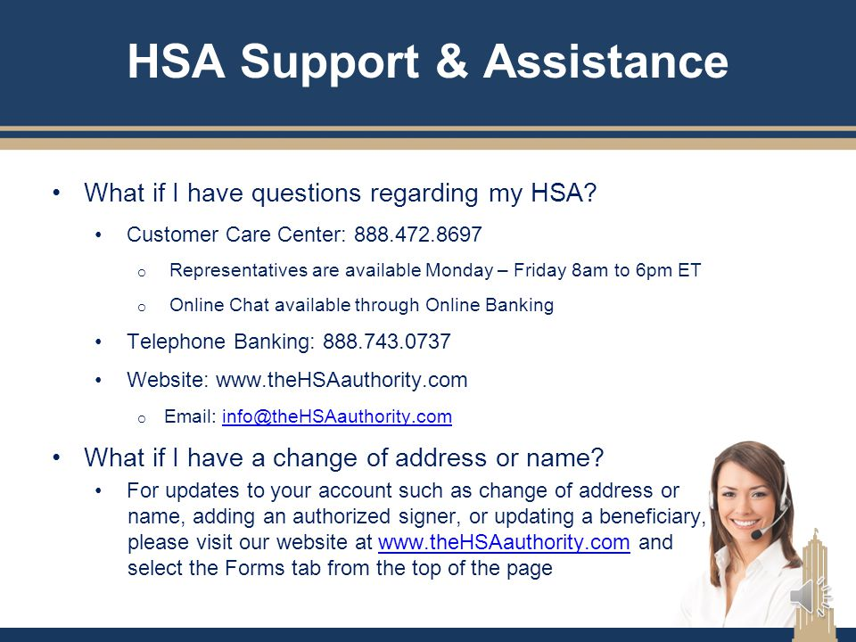HSA Support & Assistance
