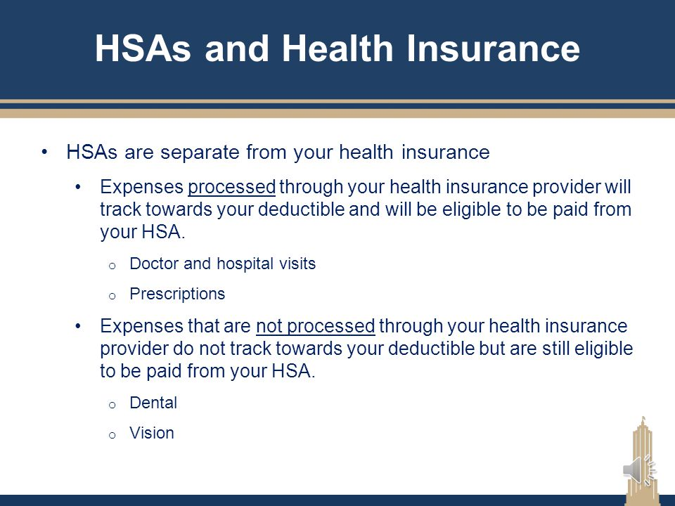 HSAs and Health Insurance