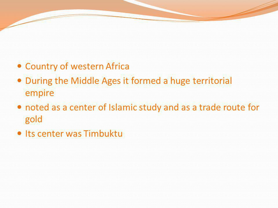 Country of western Africa