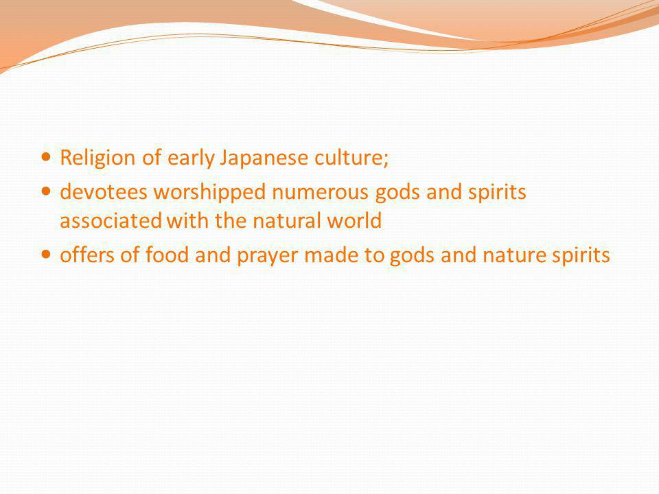 Religion of early Japanese culture;