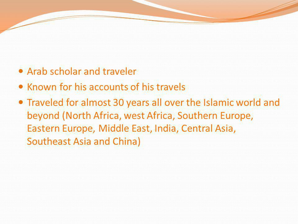 Arab scholar and traveler