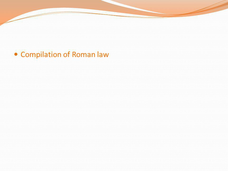 Compilation of Roman law