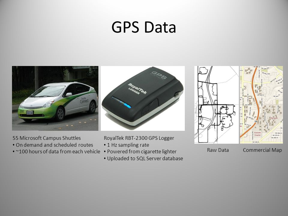 GPS Data 55 Microsoft Campus Shuttles On demand and scheduled routes