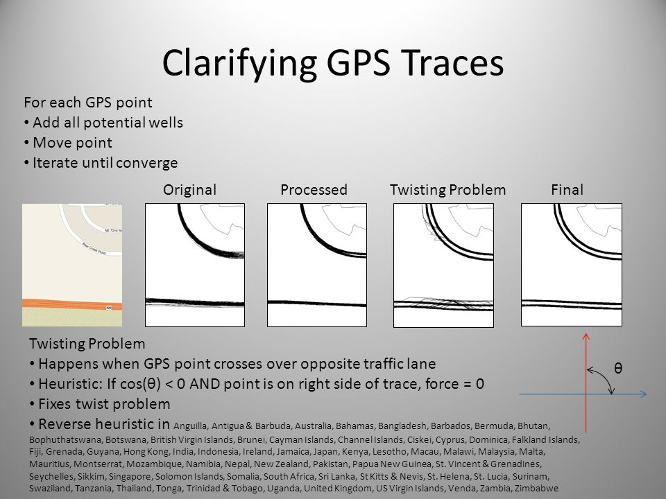 Clarifying GPS Traces For each GPS point Add all potential wells