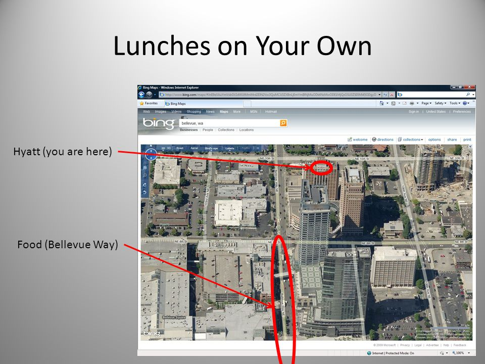 Lunches on Your Own Hyatt (you are here) Food (Bellevue Way)