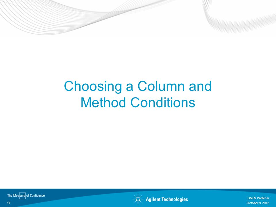 Choosing a Column and Method Conditions