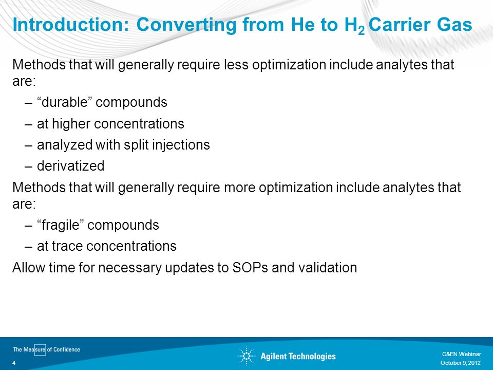 Introduction: Converting from He to H2 Carrier Gas