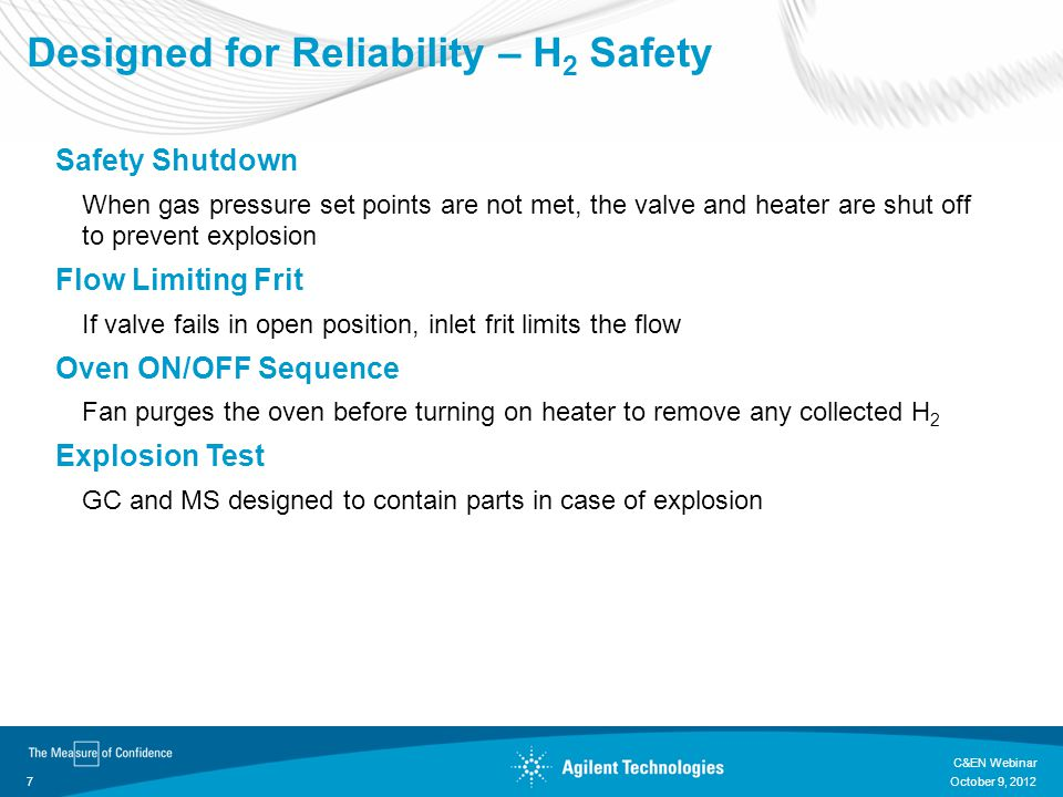 Designed for Reliability – H2 Safety