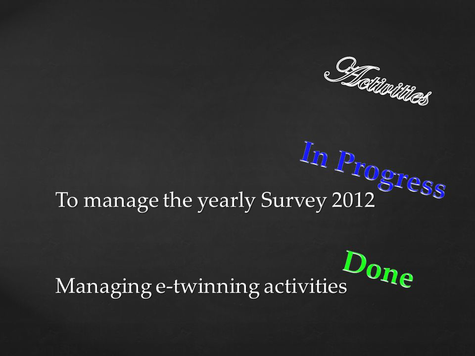 Managing e-twinning activities