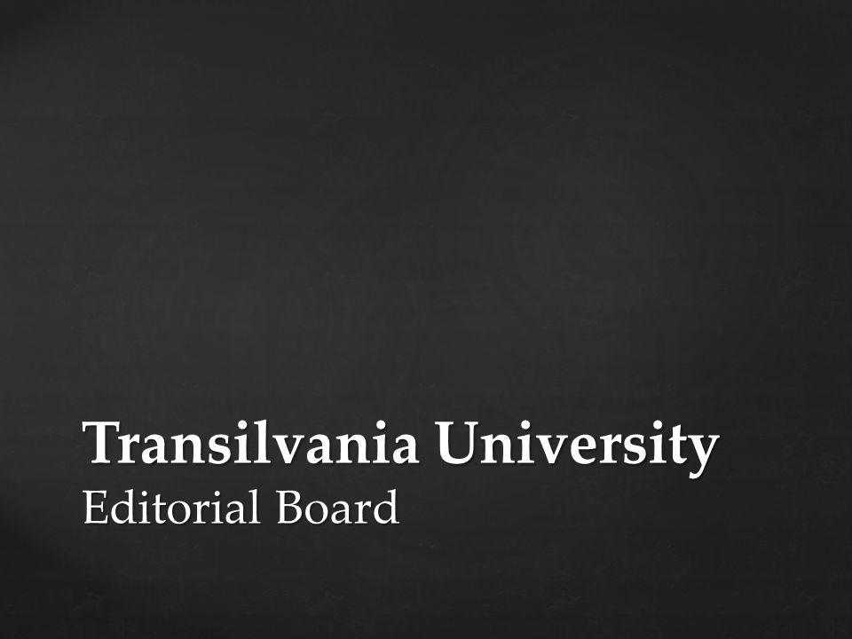 Transilvania University Editorial Board
