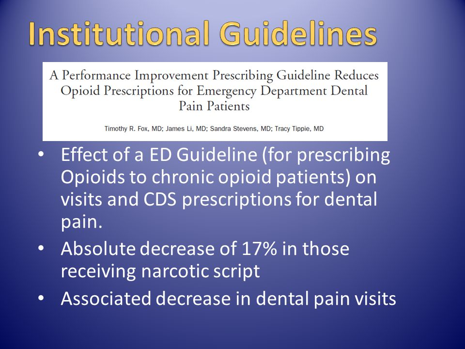 Institutional Guidelines