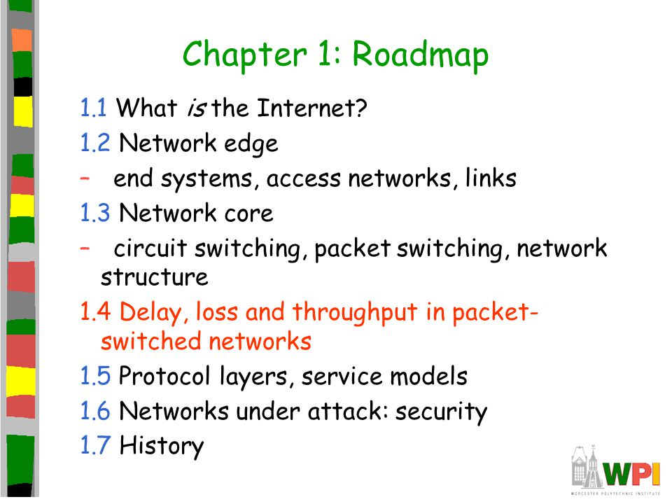 Chapter 1: Roadmap 1.1 What is the Internet 1.2 Network edge