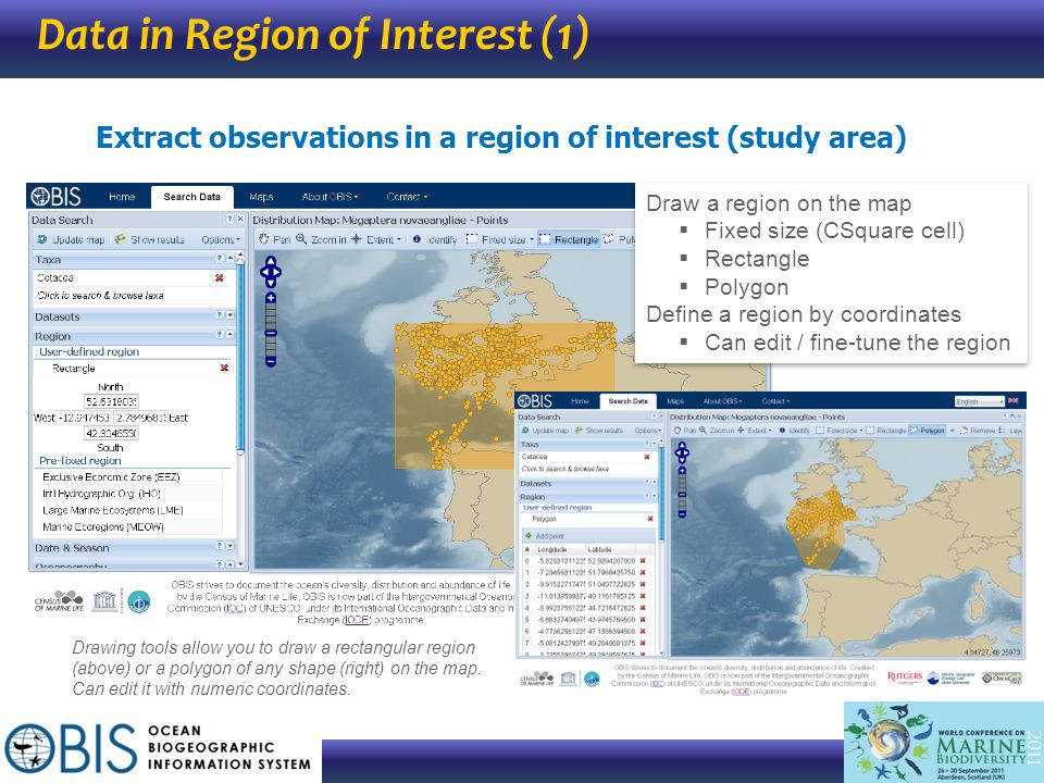 Data in Region of Interest (1)