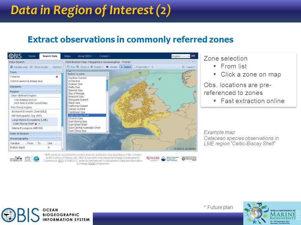 Data in Region of Interest (2)