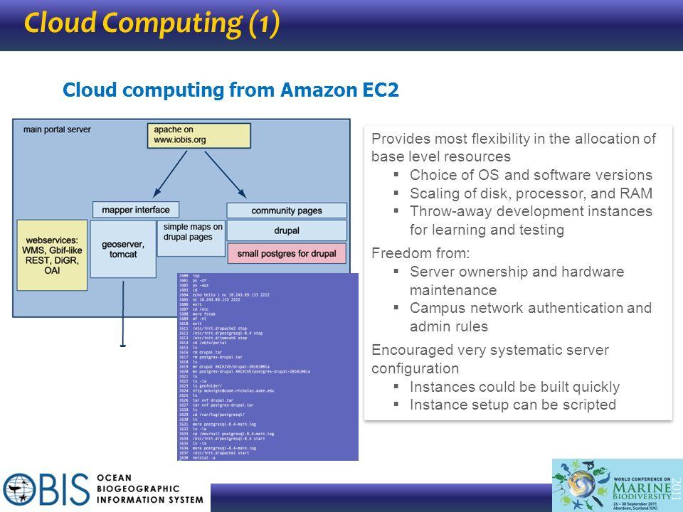 Cloud Computing (1) Cloud computing from Amazon EC2