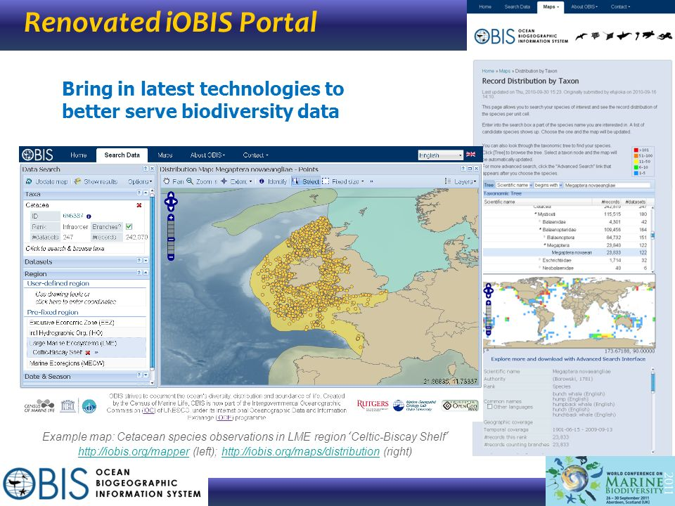 Renovated iOBIS Portal
