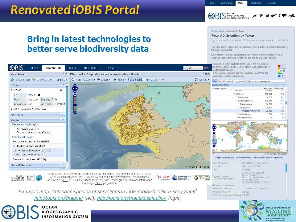 Renovated iOBIS Portal