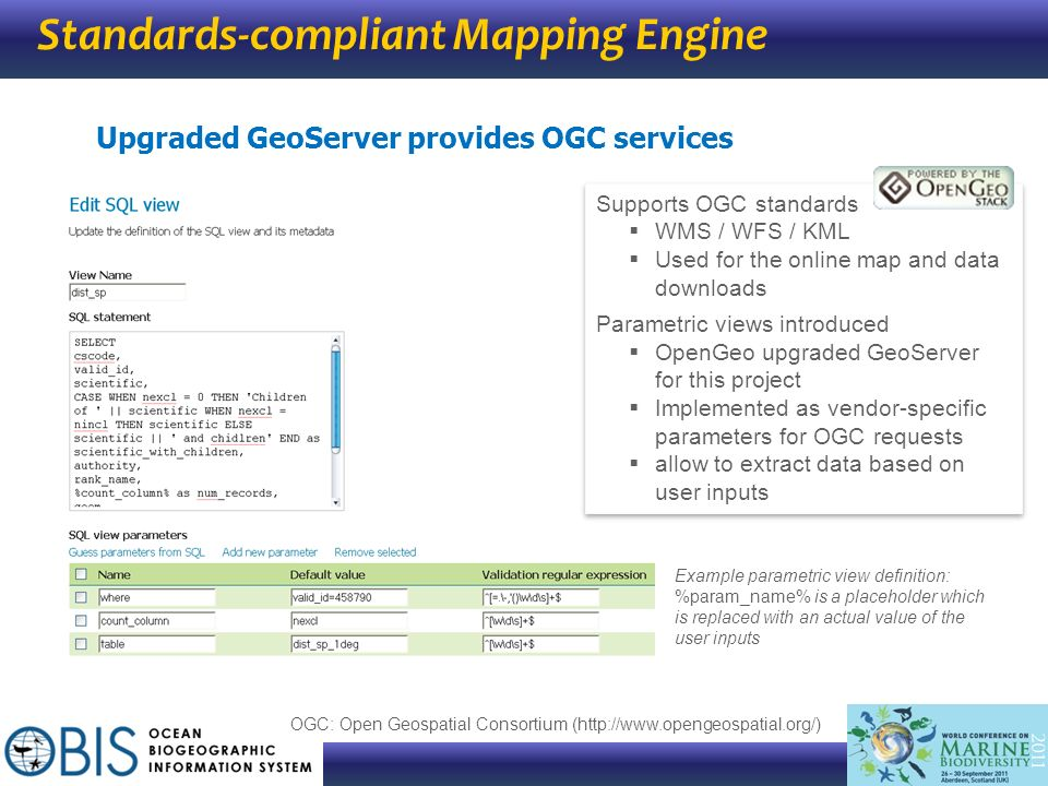 Standards-compliant Mapping Engine