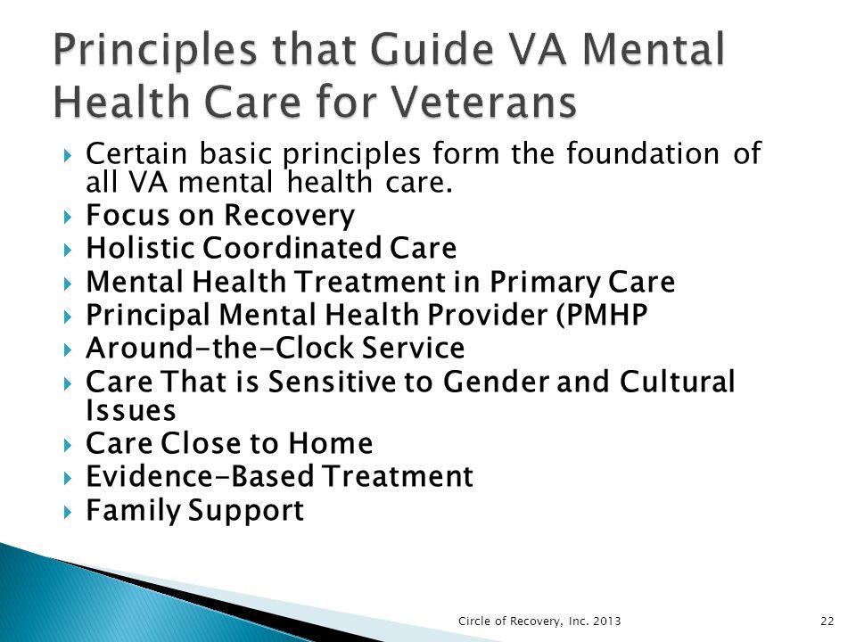 Principles that Guide VA Mental Health Care for Veterans