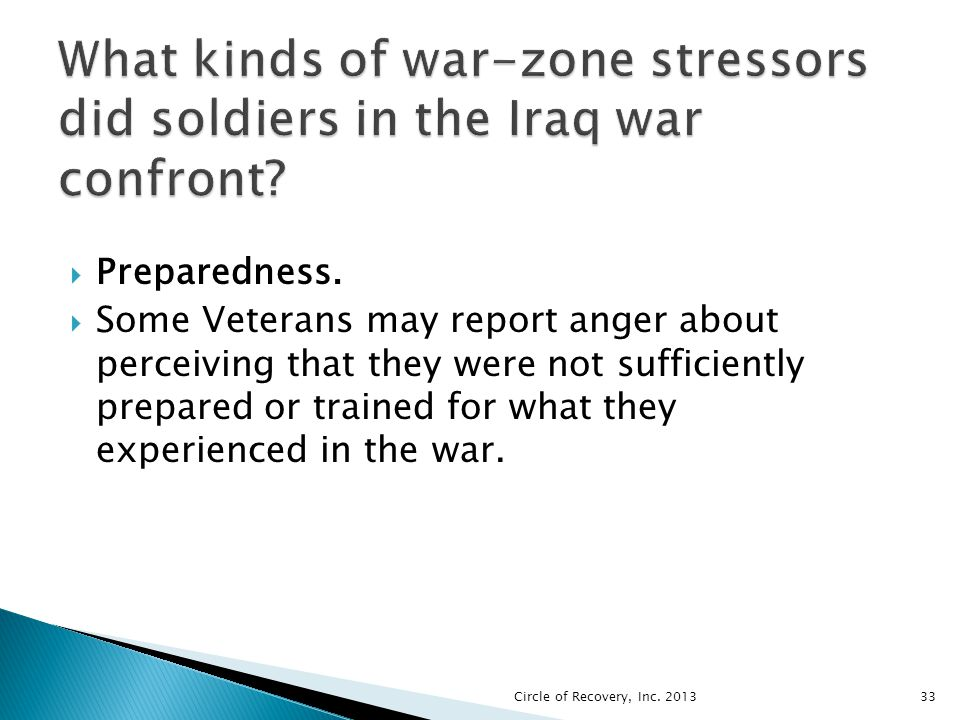 What kinds of war-zone stressors did soldiers in the Iraq war confront