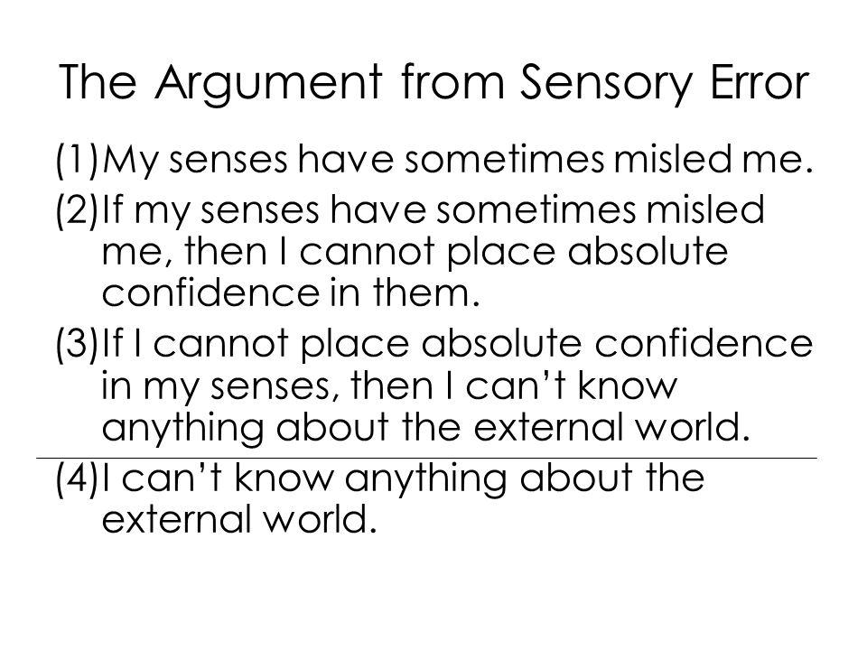 The Argument from Sensory Error