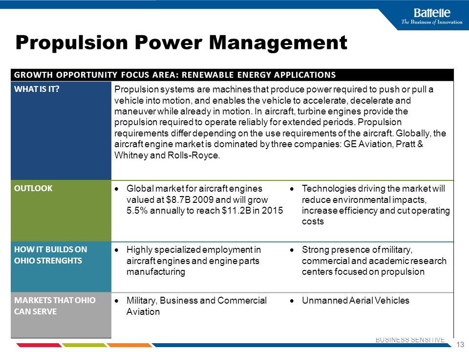 Propulsion Power Management