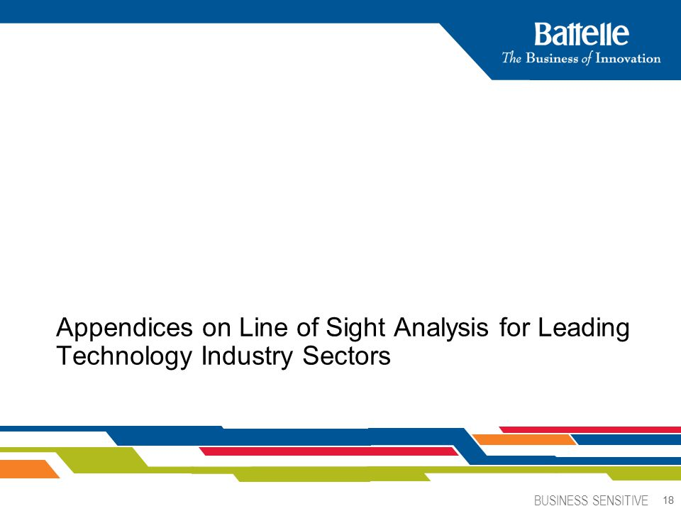 Appendices on Line of Sight Analysis for Leading Technology Industry Sectors