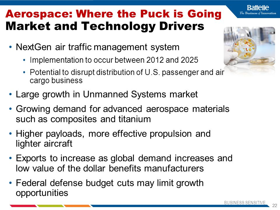 Aerospace: Where the Puck is Going Market and Technology Drivers