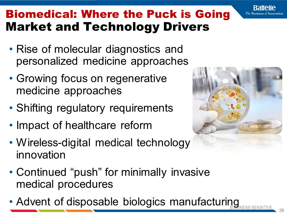 Biomedical: Where the Puck is Going Market and Technology Drivers