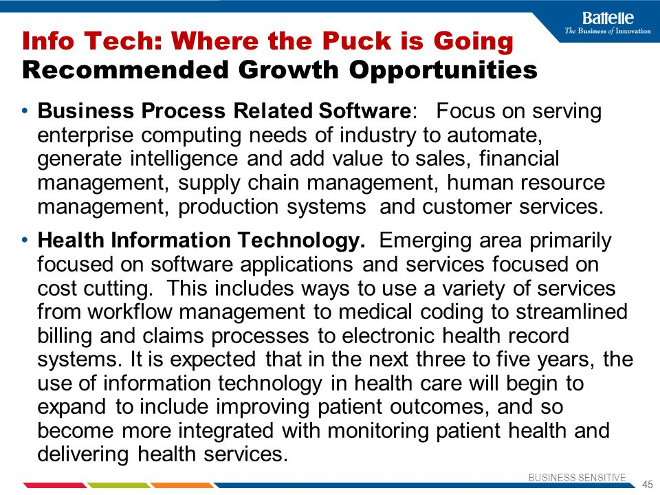 Info Tech: Where the Puck is Going Recommended Growth Opportunities