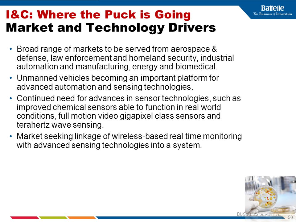 I&C: Where the Puck is Going Market and Technology Drivers