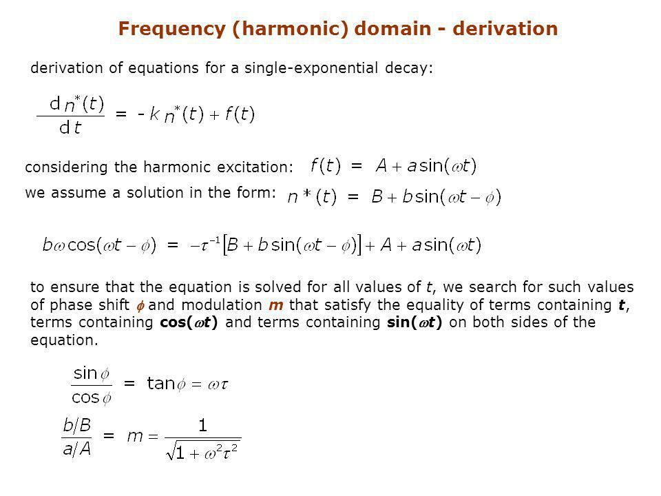 Frequency (harmonic) domain - derivation