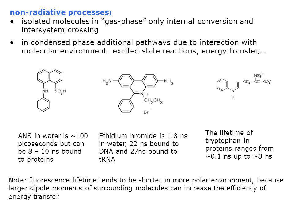non-radiative processes: