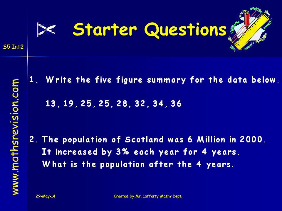 Created by Mr. Lafferty Maths Dept.