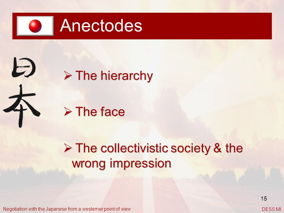Anectodes The hierarchy The face