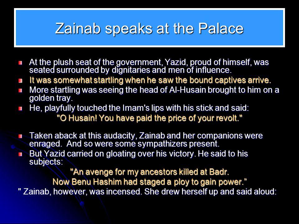 Zainab speaks at the Palace