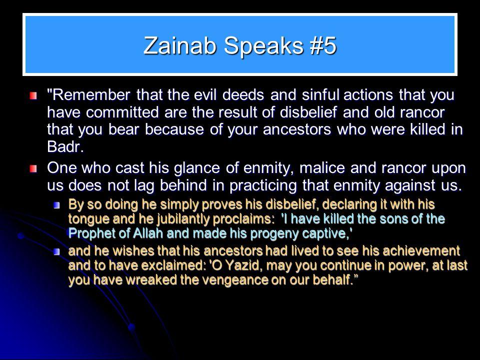 Zainab Speaks #5