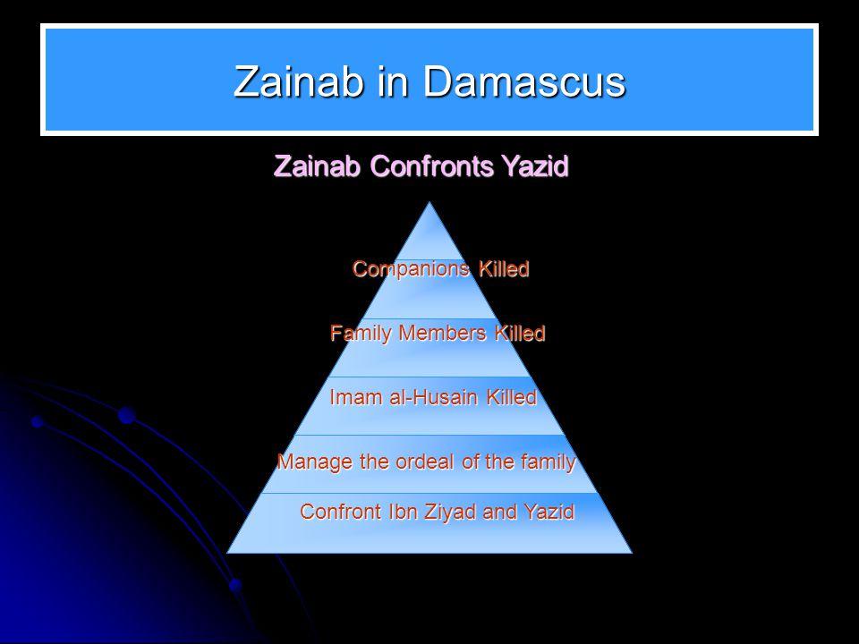 Zainab in Damascus Zainab Confronts Yazid Companions Killed