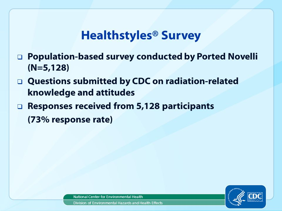 Healthstyles® Survey Population-based survey conducted by Ported Novelli (N=5,128)