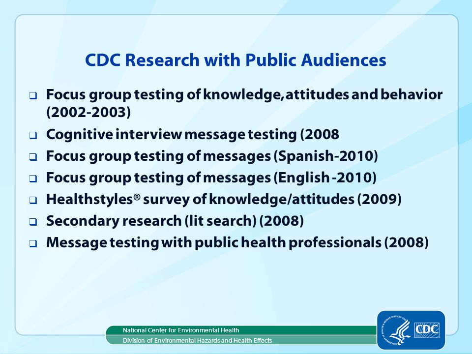 CDC Research with Public Audiences