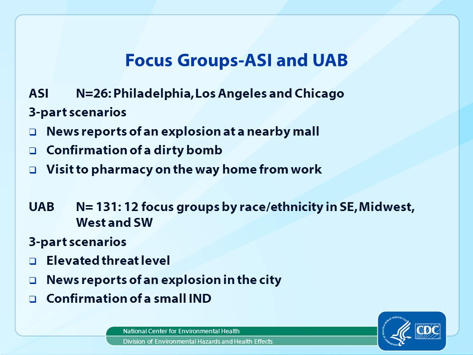 Focus Groups-ASI and UAB