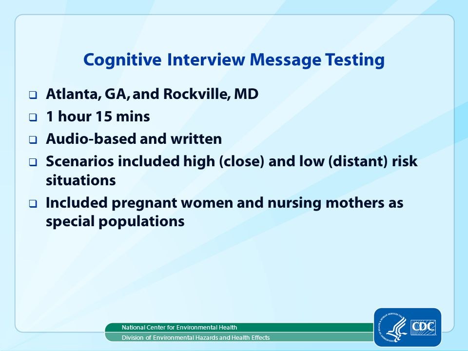Cognitive Interview Message Testing