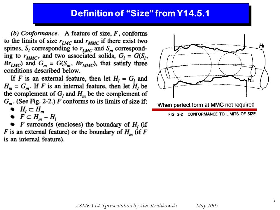 Definition of Size from Y14.5.1