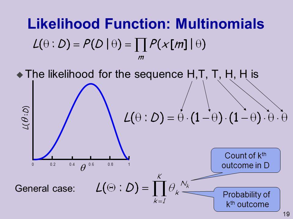 Likelihood Function: Multinomials