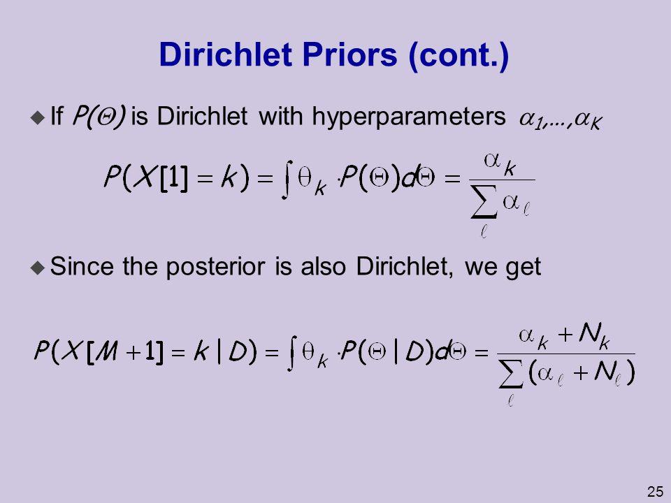 Dirichlet Priors (cont.)