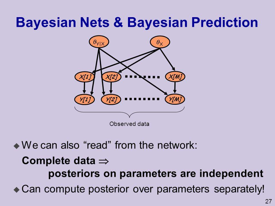Bayesian Nets & Bayesian Prediction