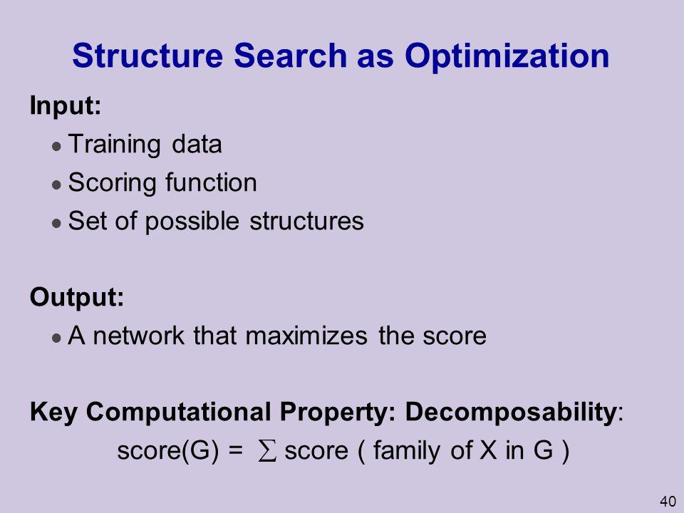 Structure Search as Optimization